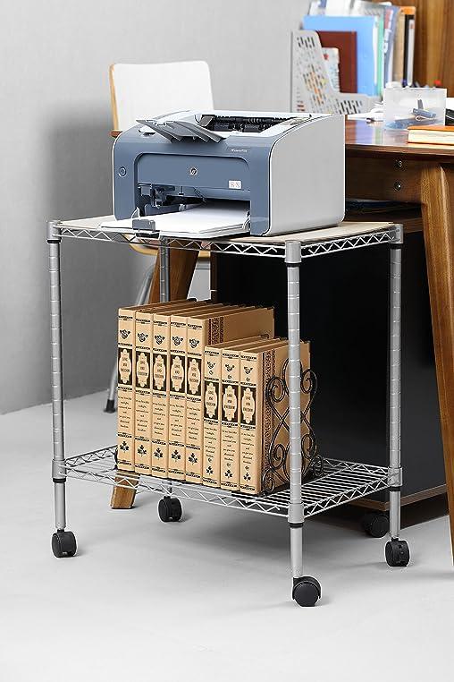 Küchenregal auf rollen  Durable Druckerständer Druckertisch 54 x 35 x 55 cm - Metall ...