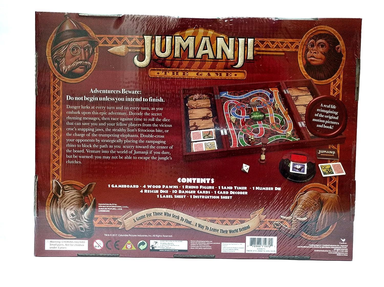 Jumanji The Game In Real Wooden Box Amazonin Car Motorbike