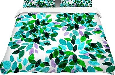 "KESS InHouse Ebi Emporium""Dahlia Dots 7"" King Cotton Duvet Cover, 104 x 88"""