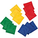 "Franklin Sports 5"" x 5"" Nylon Bean Bags (Set of 12) - Perfect for use in schools"