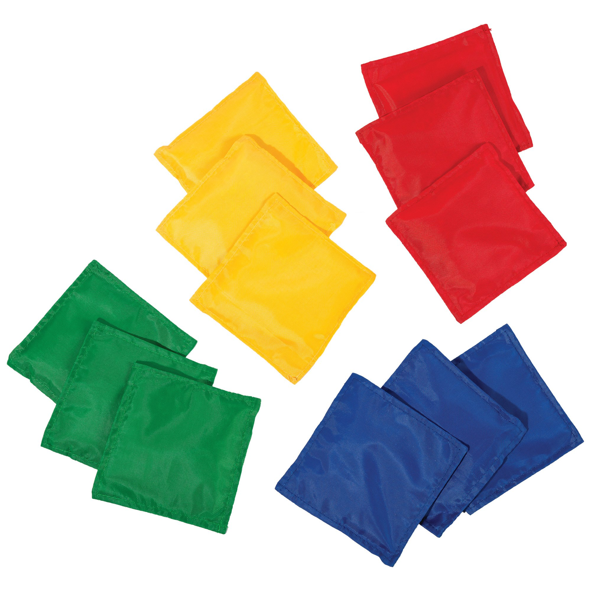 Franklin Sports 5'' x 5'' Nylon Bean Bags (Set of 12) - Perfect for use in schools by Franklin Sports