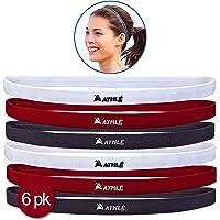 Mens & Womens Deportes Headbands: 6Delgado cómodo elástico