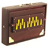 Shruti Box Instrument, Maharaja Musicals, Small, 13 x 9.5 x 3 Inches, With Bag, Blemished, Walnut Color, 13 Notes, Sur Peti Surpeti, Indian Musical Instrument