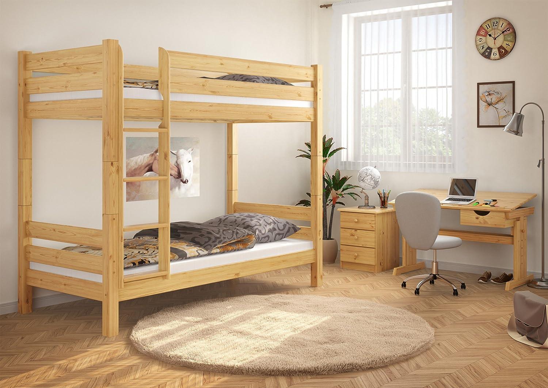 Etagenbett Massivholz : Erst holz teilbares etagenbett massivholz kiefer