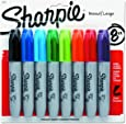 Sharpie Permanent Markers, Chisel Tip, Assorted Colors, 8-Count
