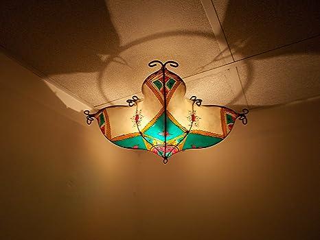 Plafoniera Vimini : Lampadario etnico marocchino plafoniera lampada lanterna pelle ferro