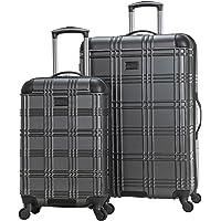 "Ben Sherman Nottingham Lightweight Hardside 4-Wheel Spinner Travel Luggage, Charcoal, 2-Piece Set (20"" & 28"")"