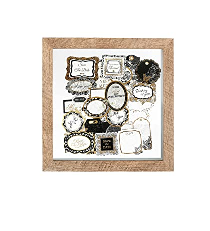 Amazon.com - Shadow Box Scrap Book Wood Picture Frame | 10x10 Inch ...