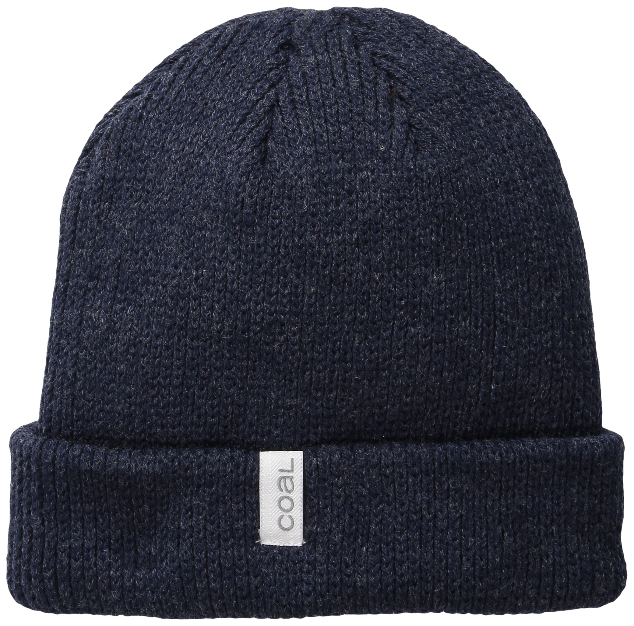 Coal The Frena Solid Fine Knit Beanie Hat,Heather Navy,One Size