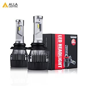 ALLA Lighting HB4 9006 LED Headlights Bulbs S-HCR Newest 10000Lms Extreme Super Bright LED 9006 Low Beam Headlight Conversion Kits Bulbs Replacement for Cars, Trucks, SUVs, 6000K - 6500K Xenon White