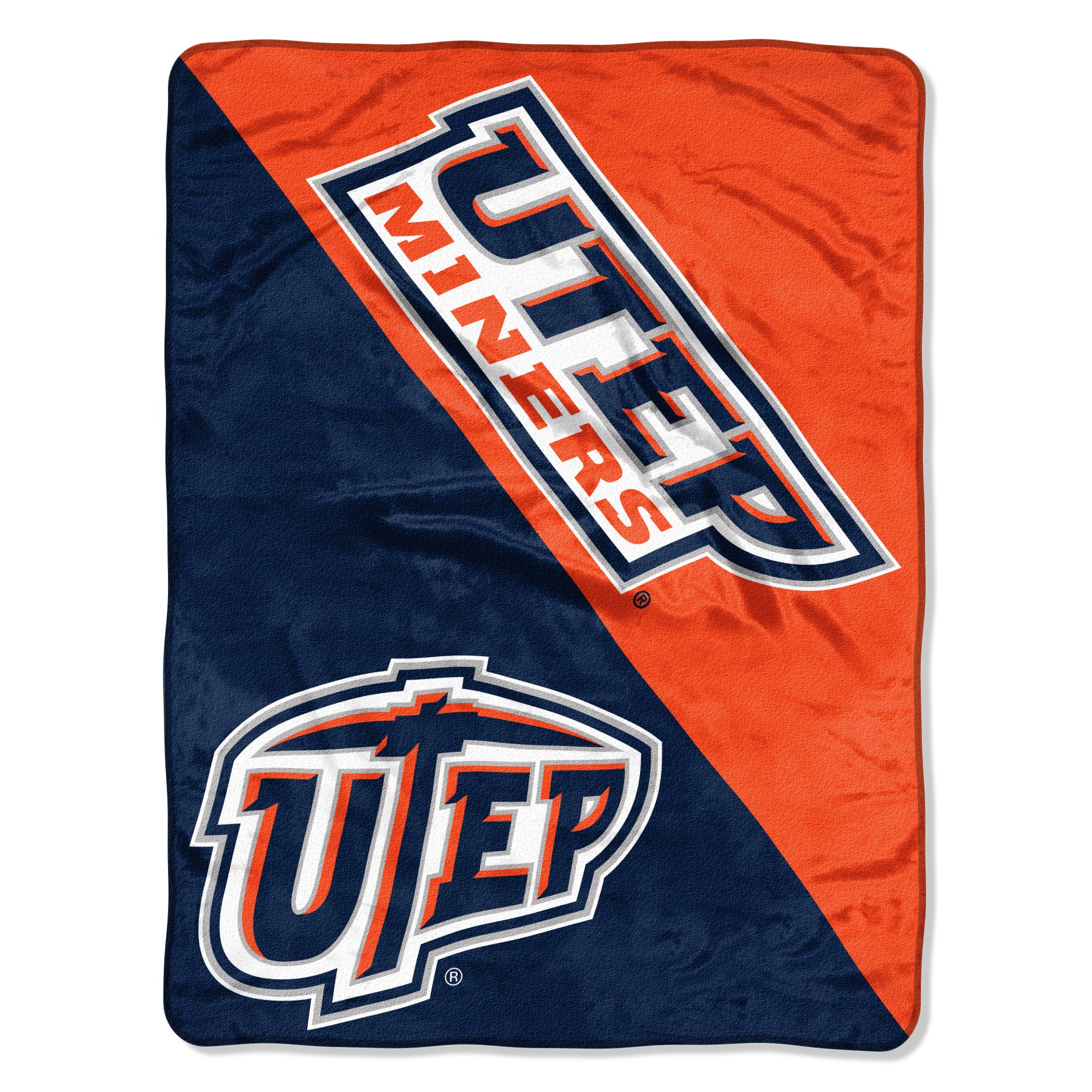 The Northwest Company Officially Licensed NCAA Texas El Paso Miners Halftone Micro Raschel Throw Blanket, 46'' x 60'', Multi Color by The Northwest Company