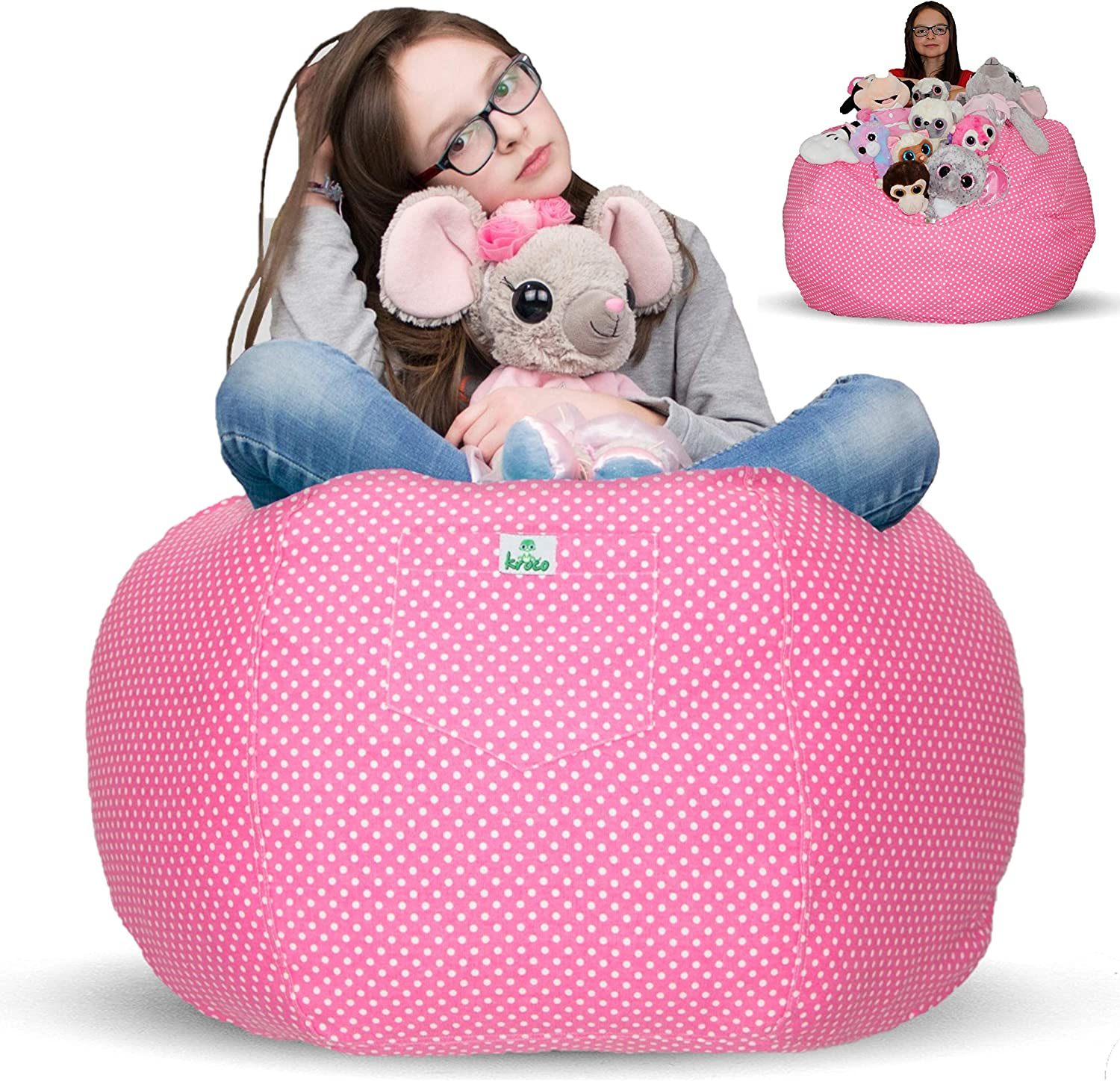 Fur Real Stuffed Animals, Amazon Com Kroco Stuffed Animal Storage Bean Bag Chair For Kids Room Stuff N Sit Toy Storage Pouf Beanbag Cover For Girls Boys Creative Organizer Seat Holder Childrens