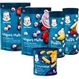 Gerber Up Age Snacks Variety Pack - Puffs, Yogurt Melts & Lil Crunchies, 9 Count