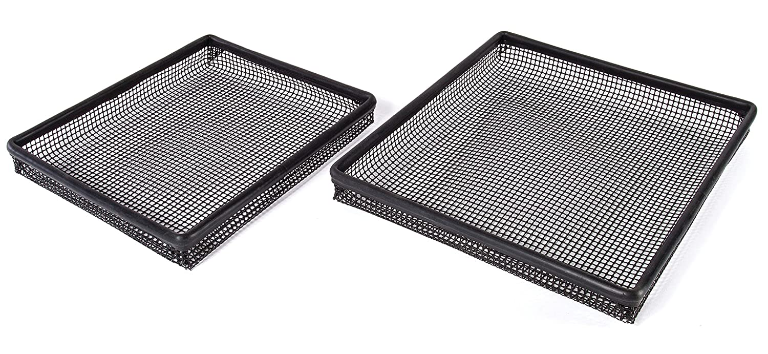 Kitchen + Home Oven Crisper Trays – Set of 2 Non-stick Mesh Crisper Trays –Perfectly Crisp Fries, Chicken Tenders, Tater Tots and More Without Butter or Oil – Dishwasher and Freezer Safe