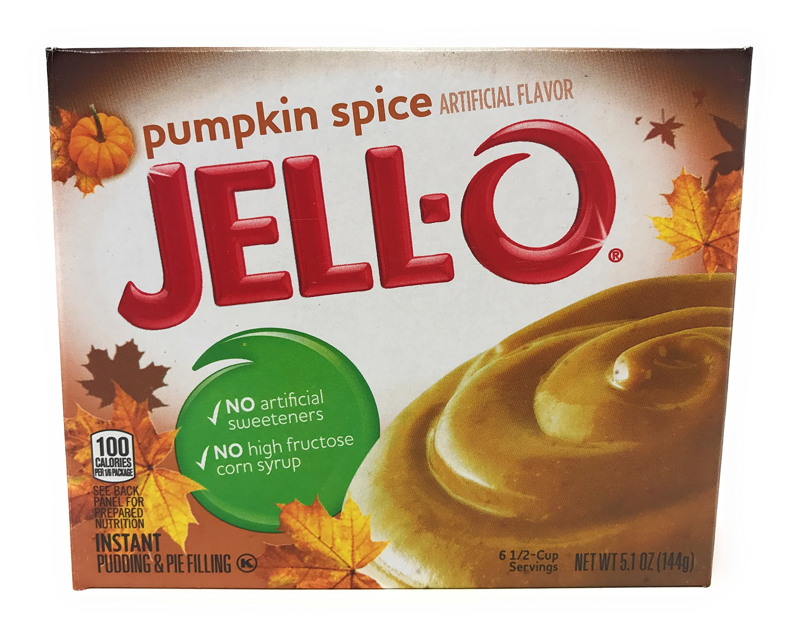 Kraft Jell-O Instant Pudding & Pie Filling, Pumpkin Spice, 5.1-ounce Boxes (Pack of 3)