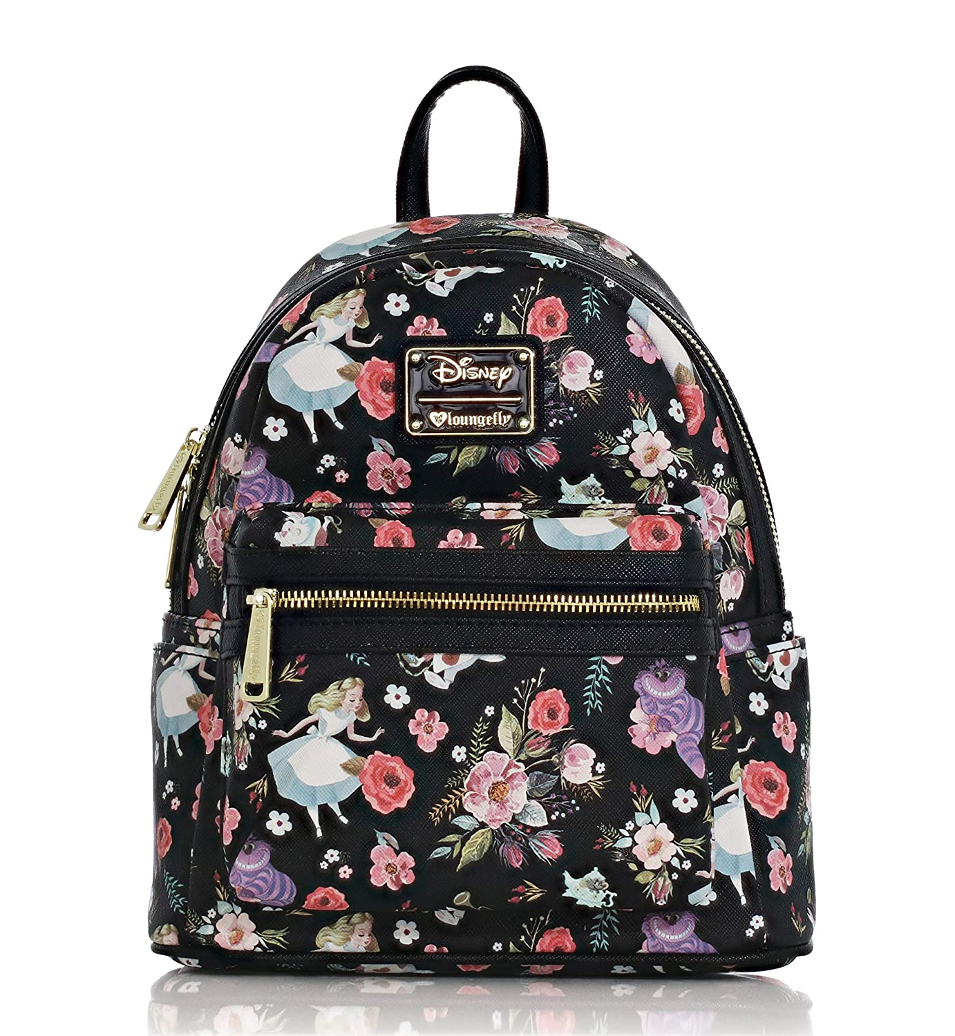 Amazon.com  Loungefly X Alice in Wonderland Character Floral Print Mini- Backpack  Clothing bacfba89231df