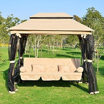 Balancelle balancoire fauteuil lit de jardin convertible avec ...