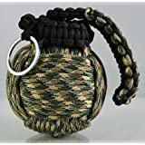 227 Tactical - WOODLAND CAMO Survival Paracord Grenade (27 in 1)