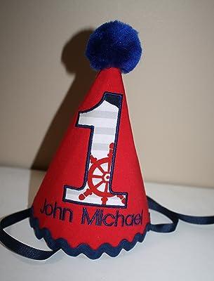 cake smash outfit baby boy nautical theme 1st birthday personalized hat smash cake