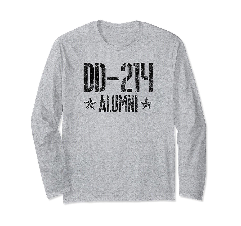 DD214 Alumni Distressed American Flag Sweatshirt Military Veteran Sweater