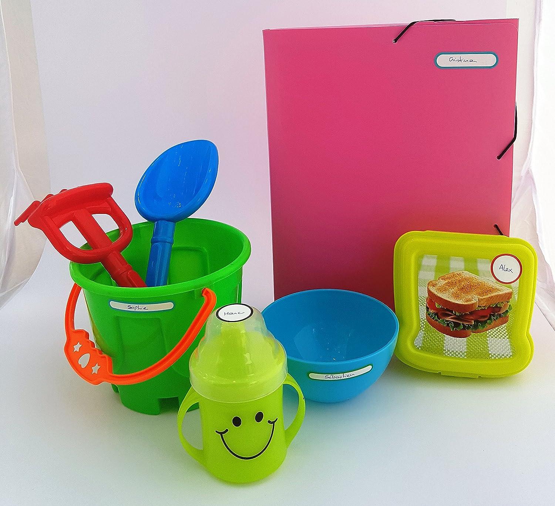 MINE Etiquetas adhesivas irrompibles, resistentes al lavavajillas y microondas: Amazon.es: Oficina y papelería