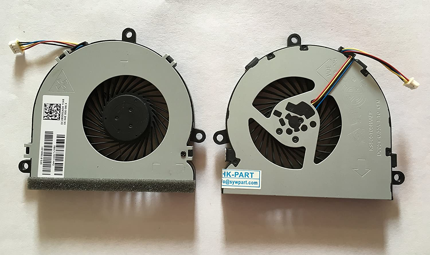HK-Part Replacement Fan for HP 250 G5 250G5 255G5 255 G5 TPN-C129 15-AY 15-BA 15-BS 15-BW CPU Cooling Fan 4-Pin 4-Wire DC5V
