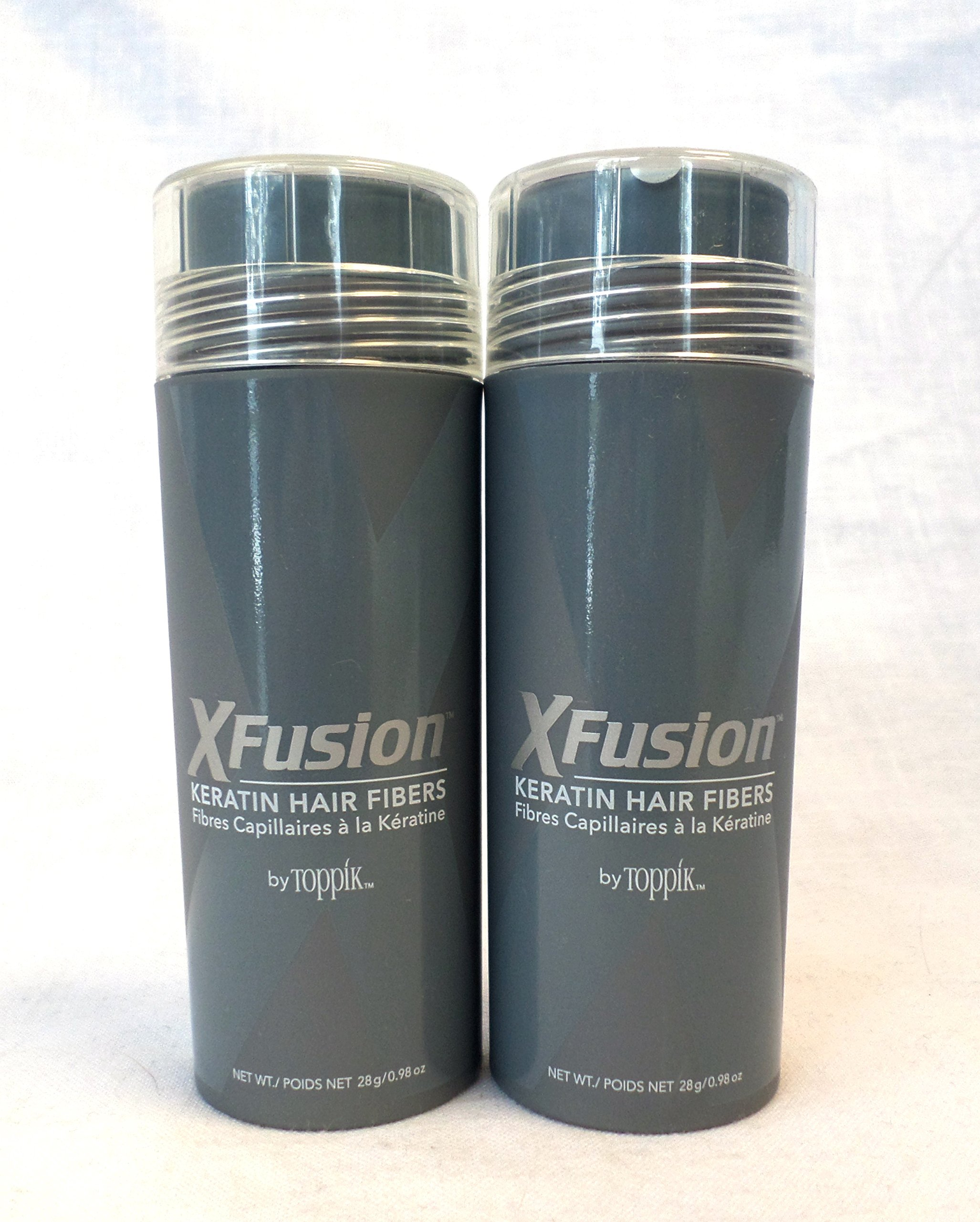 XFusion Keratin Hair Fibers 28g - 2 Piece Special (Medium Brown)