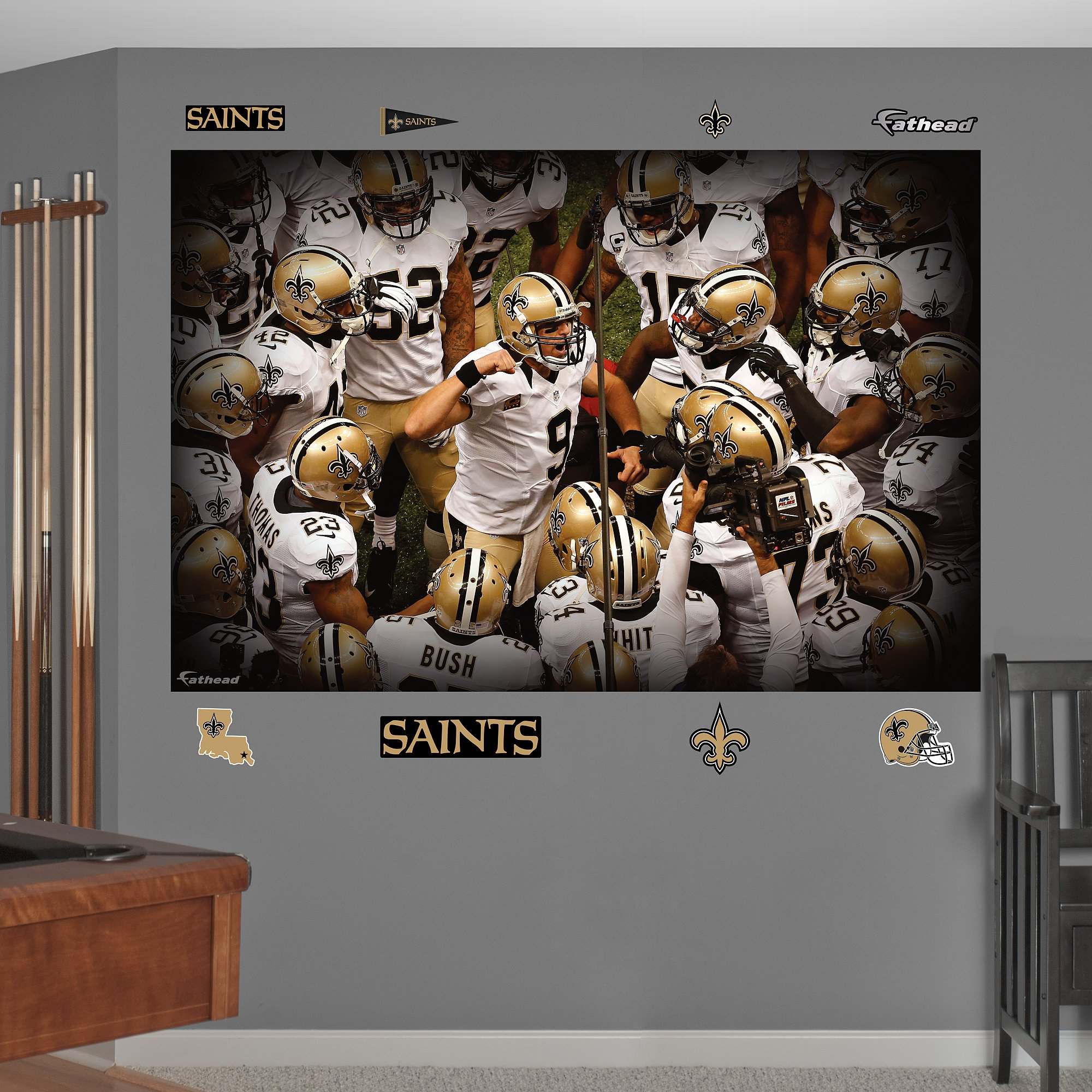 Fathead NFL New Orleans Saints New Orleans Saints Team Mural