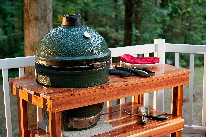 Amazon.com : JJGeorge Big Green Egg Table (Long Table for Large ...