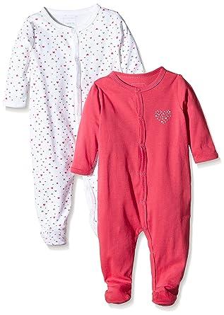 ecc1c6b4f Name It Baby Girls 13125670 Nightsuit Sleepsuit  Amazon.co.uk  Clothing