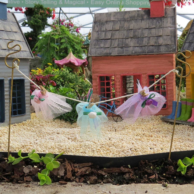 amazon com fairy garden clothes line 17408 garden u0026 outdoor