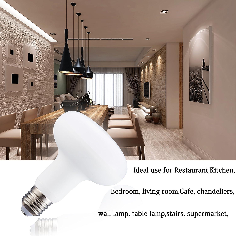 4 Pack R25//BR25 9 Watt Dimmable LED Light Bulb Equivalent 85 Watt Incandescent,E26 Medium Base 3000K Soft Yellow Glow 120 Volt 900 Lumens Incandescent R25 Medium Reflector Light Bulb