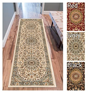 Sultan Medallion Ivory Blue Oriental Area Rug Persian Formal Traditional 2 X