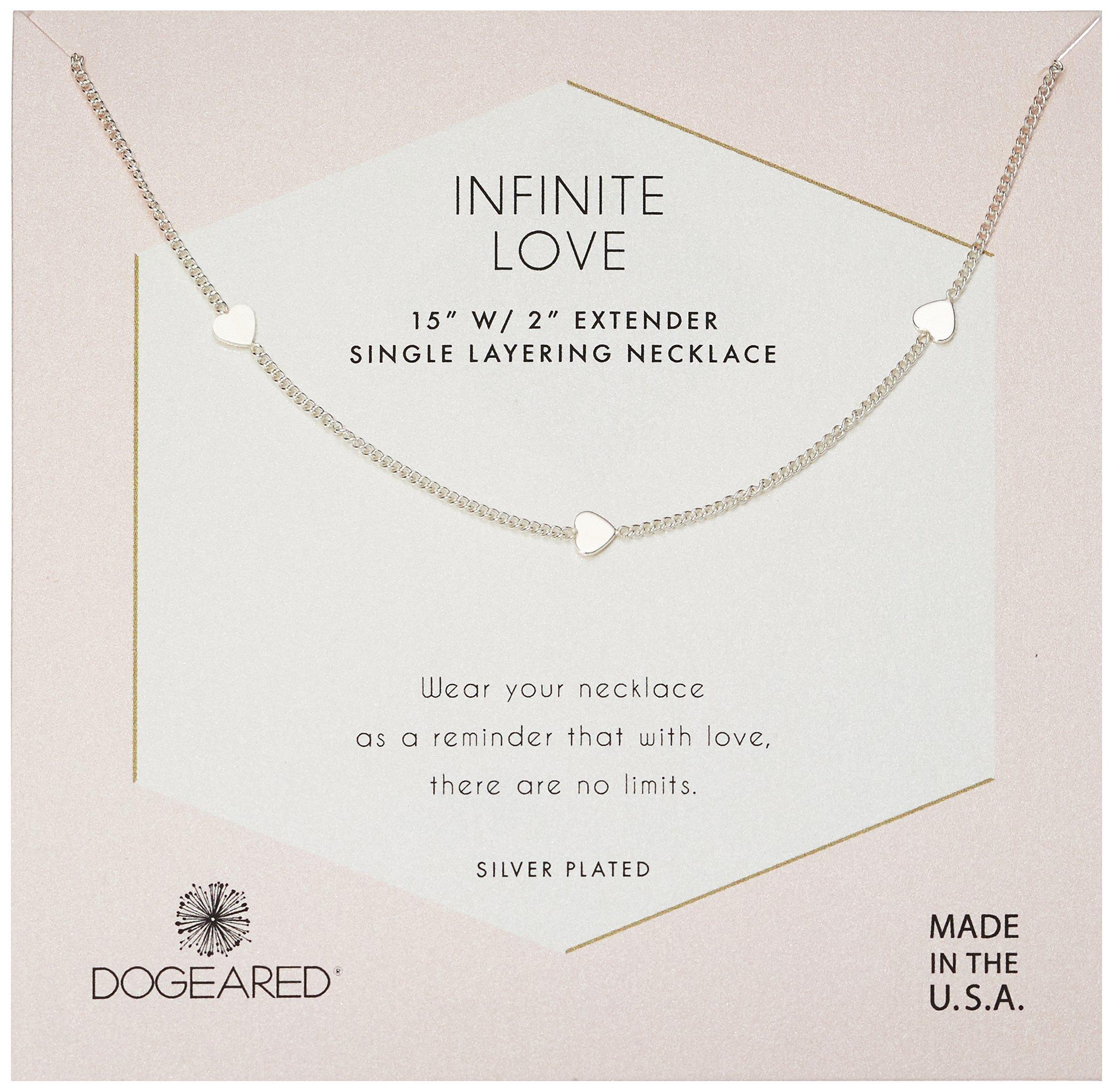 Dogeared Women's Silver Infinite Love Chain Necklace