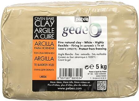 Pébéo Gede 766303 - Arcilla para cocer al horno, blanco, 5 kg, 1 ...