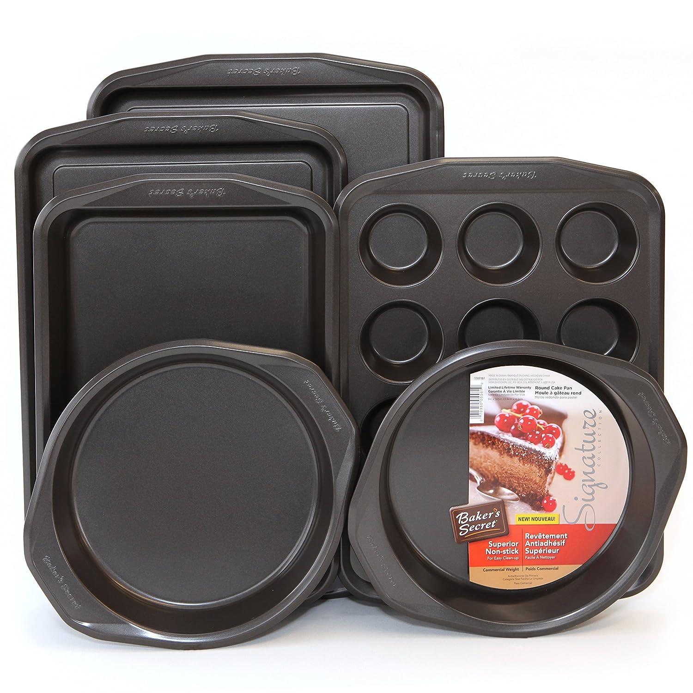 Amazon.com: Bakers Secret Signature Bakeware Sets (9-Pc Bakeware): Kitchen & Dining