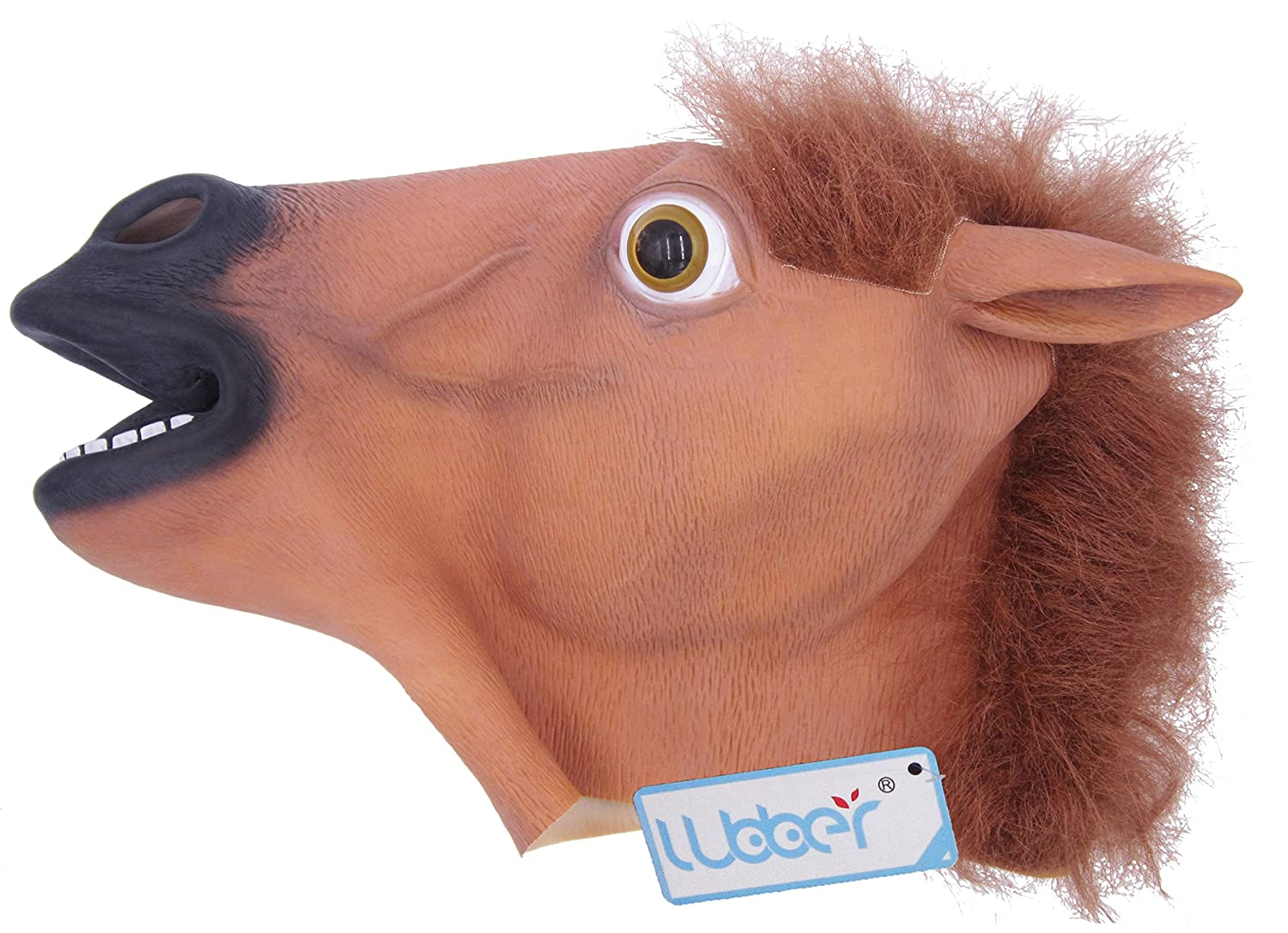 Amazon.com: LUBBER Horse Head Latex Toy Animal Head Mask For ...