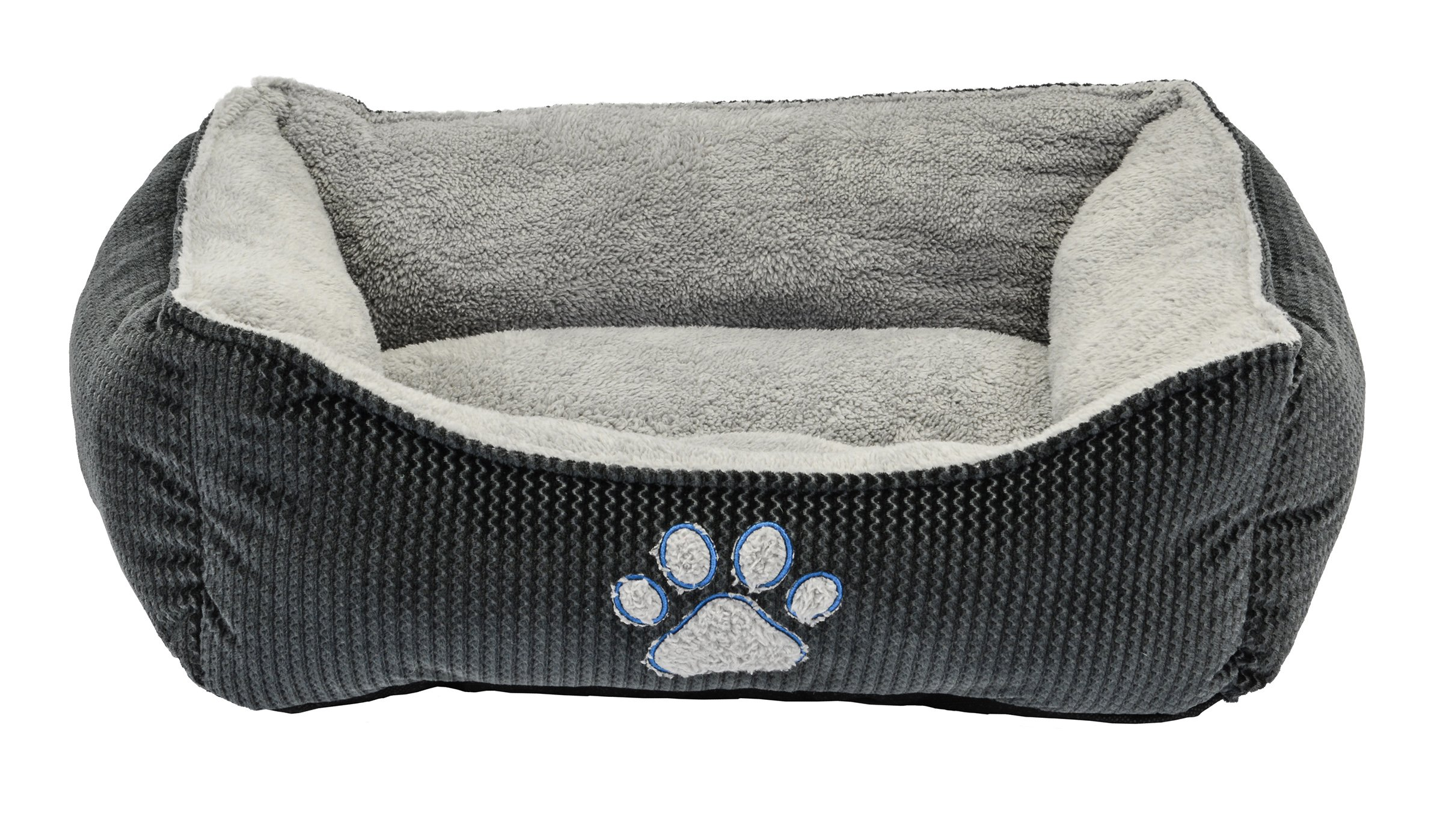 Dallas Manufacturing Co. 25'' Textured Box Dog Bed Grey