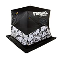 Frabill Bro Hub Top & Sides Insulated 2-3 Man Snow Camo Shelter