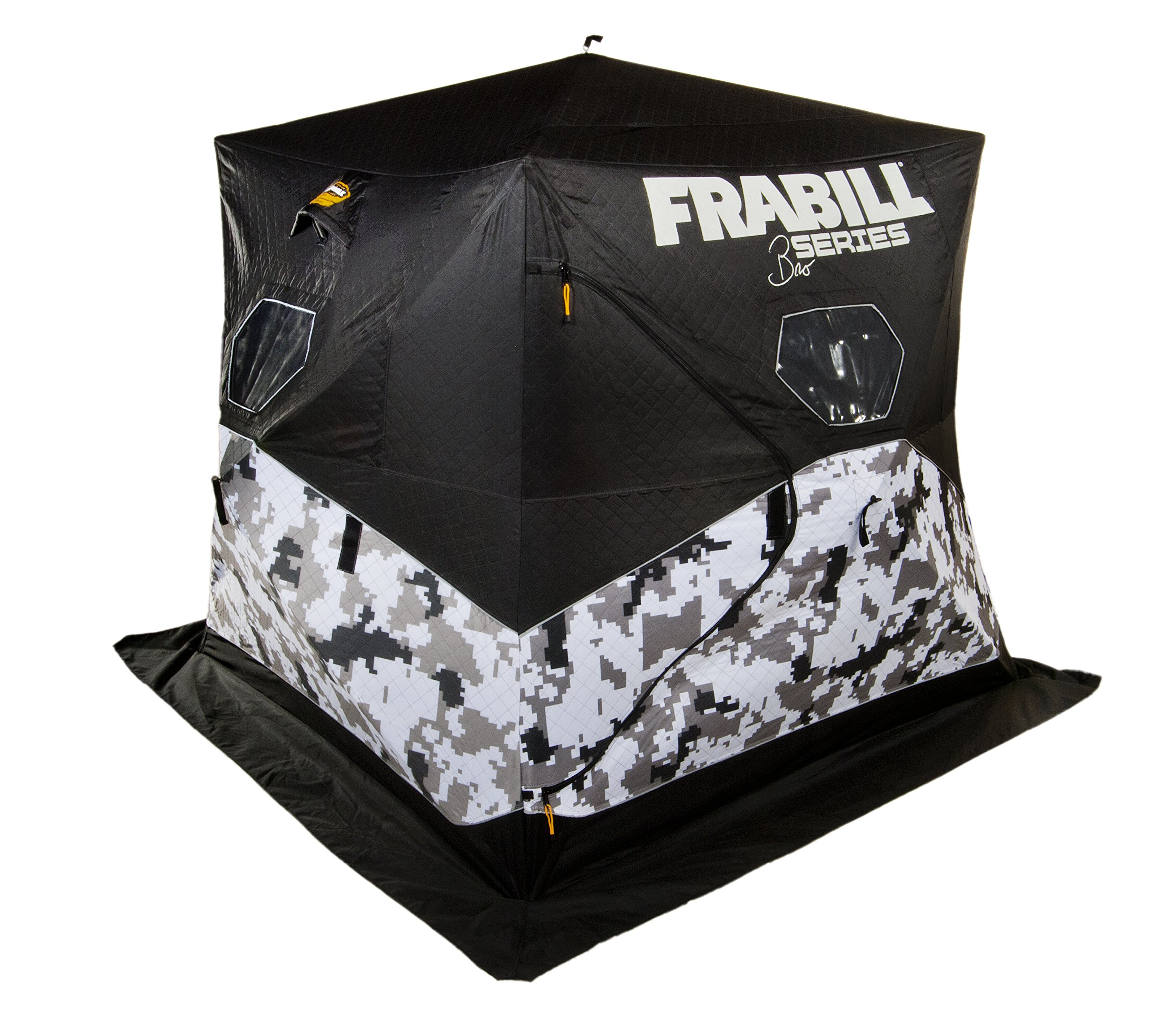 Frabill Bro Hub Top & Sides Insulated 2 - 3 Man Snow Camo Shelter by Frabill