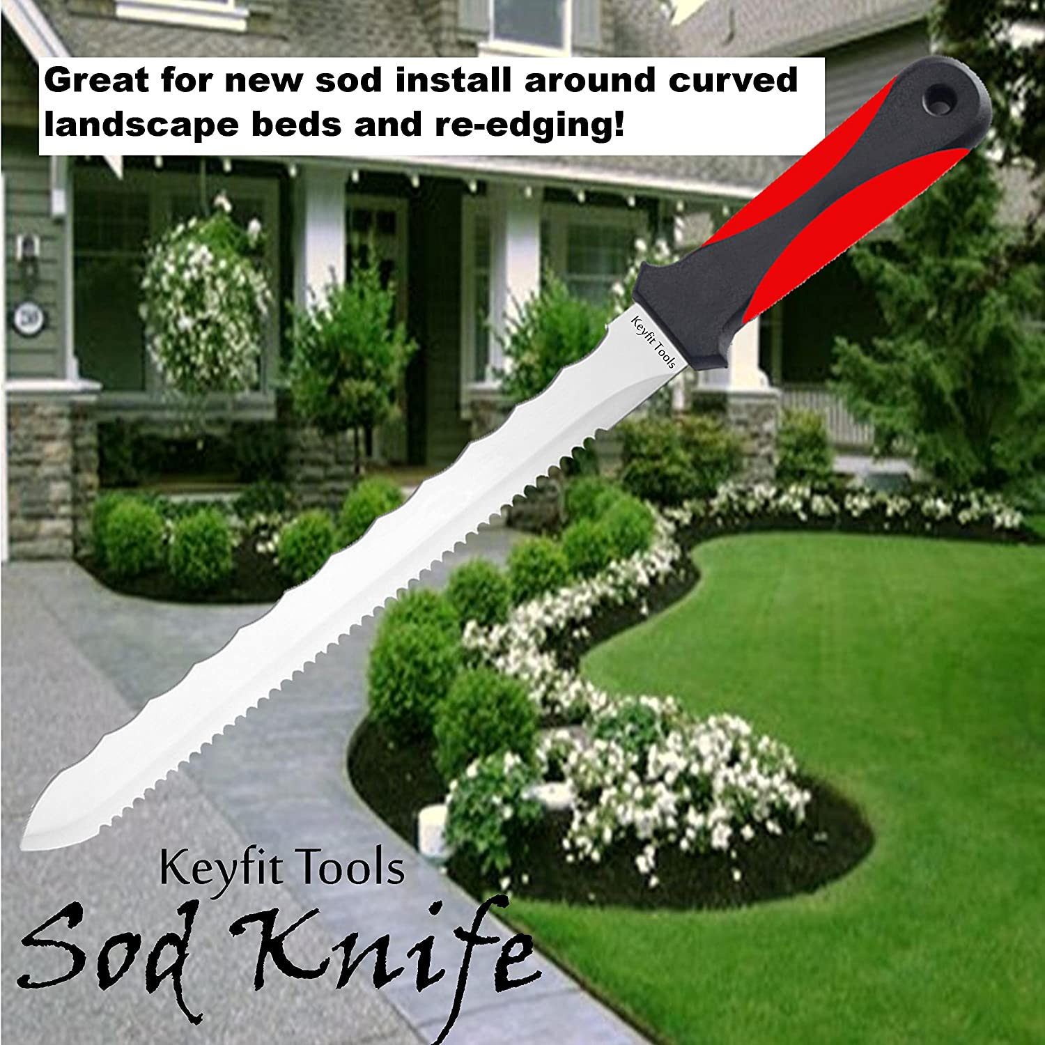 amazon com keyfit tools sod knife stainless steel blade sod cutter