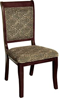 Elegant Furniture Of America Bernette Transitional Style Side Chair, Antique Cherry  Finish, Set Of 2