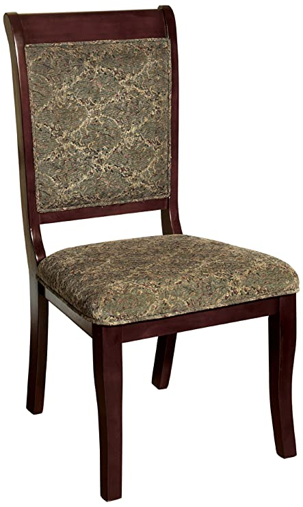 Furniture of America Bernette Transitional Style Side Chair, Antique Cherry  Finish, Set of 2 - Amazon.com - Furniture Of America Bernette Transitional Style Side