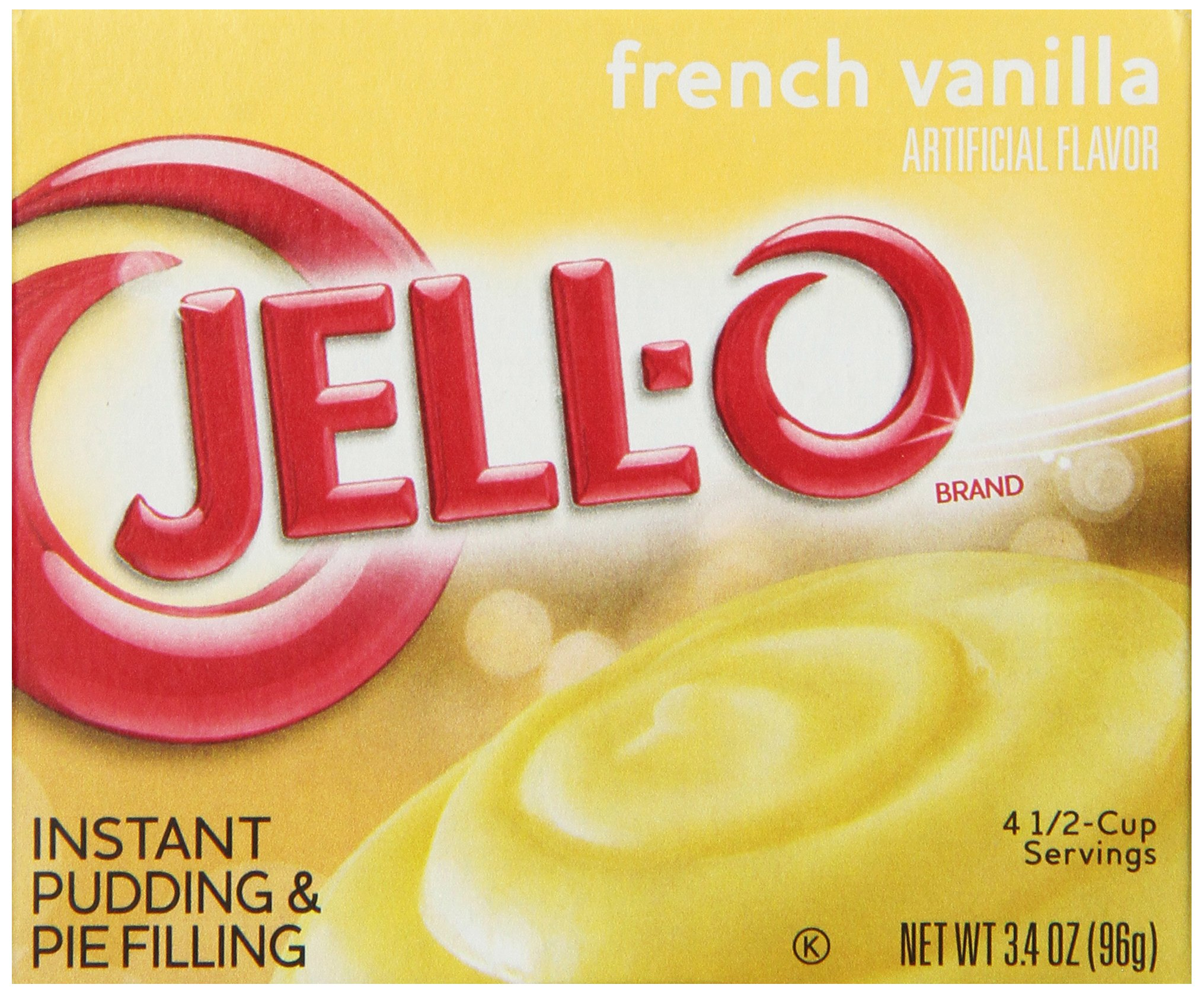 JELL-O Instant Pudding and Pie Filling, French Vanilla, 3.4 Ounce