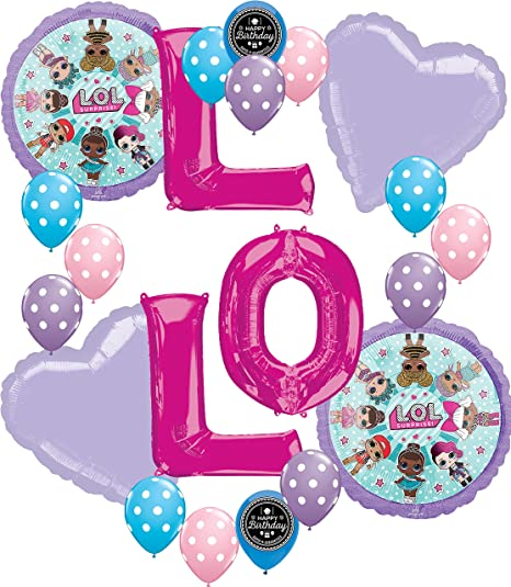 Lol Party Supplies Birthday LOL Balloons Bouquet Decorations Bundle For Kit