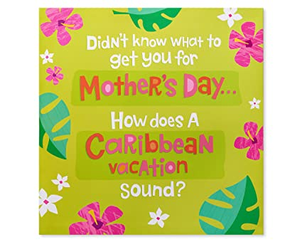 Amazon american greetings funny caribbean vacation mothers day american greetings funny caribbean vacation mothers day card with music m4hsunfo