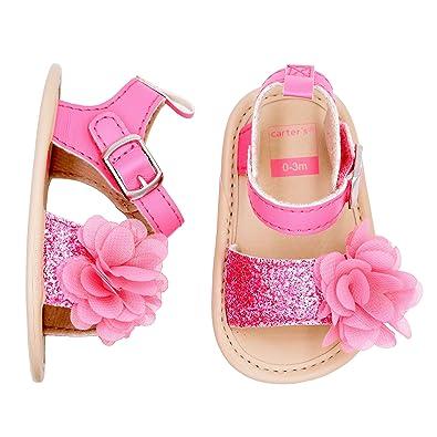new concept 13cd7 746bb Amazon.com  Carter s Kids  Infant Girls  Strap Sandal Flat  Shoes