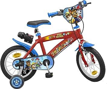 TOIMS Paw Patrol Bicicleta de Niño: Amazon.es: Deportes y aire libre