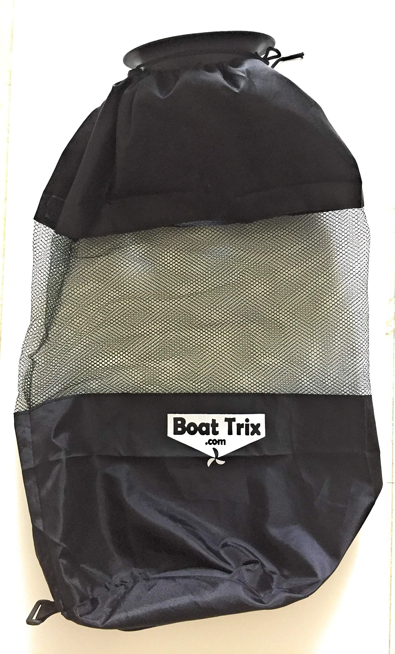 Boat Trash Bag - Large Hoop Mesh Trash Bag for Your Boat by Boat Trix