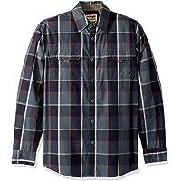 Wrangler Mens Ls Canvas Shirt Long Sleeve Button Down Shirt